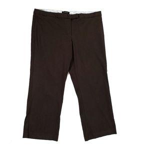 Lane Bryant, brown, trouser, dress pants, size 22